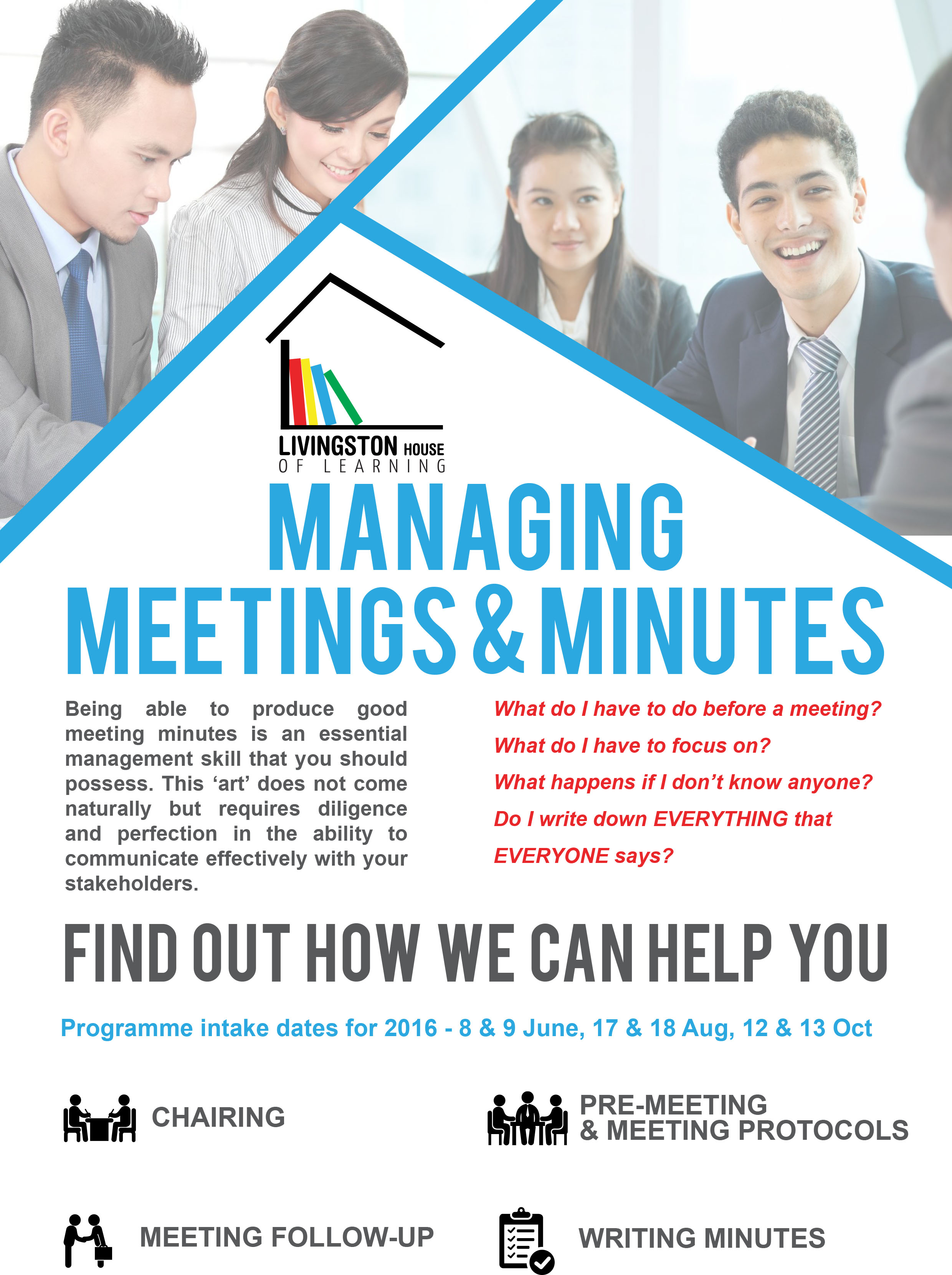 managing meetings minutes programme livingston house of learning